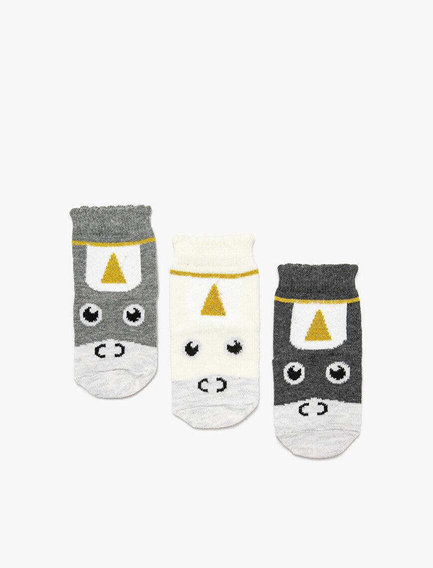 3'lü Kız Bebek Çorap