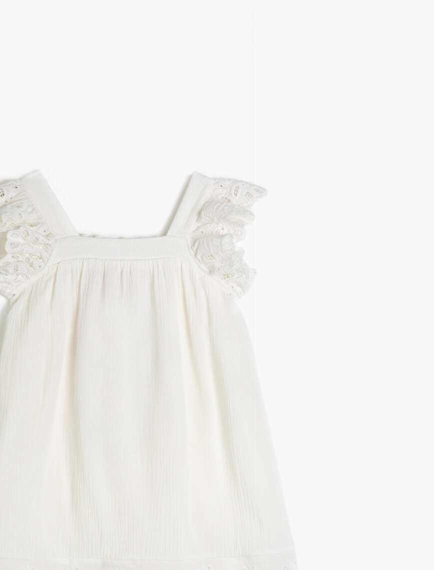 Krincle Vicsose Short Sleeve Lace Dress