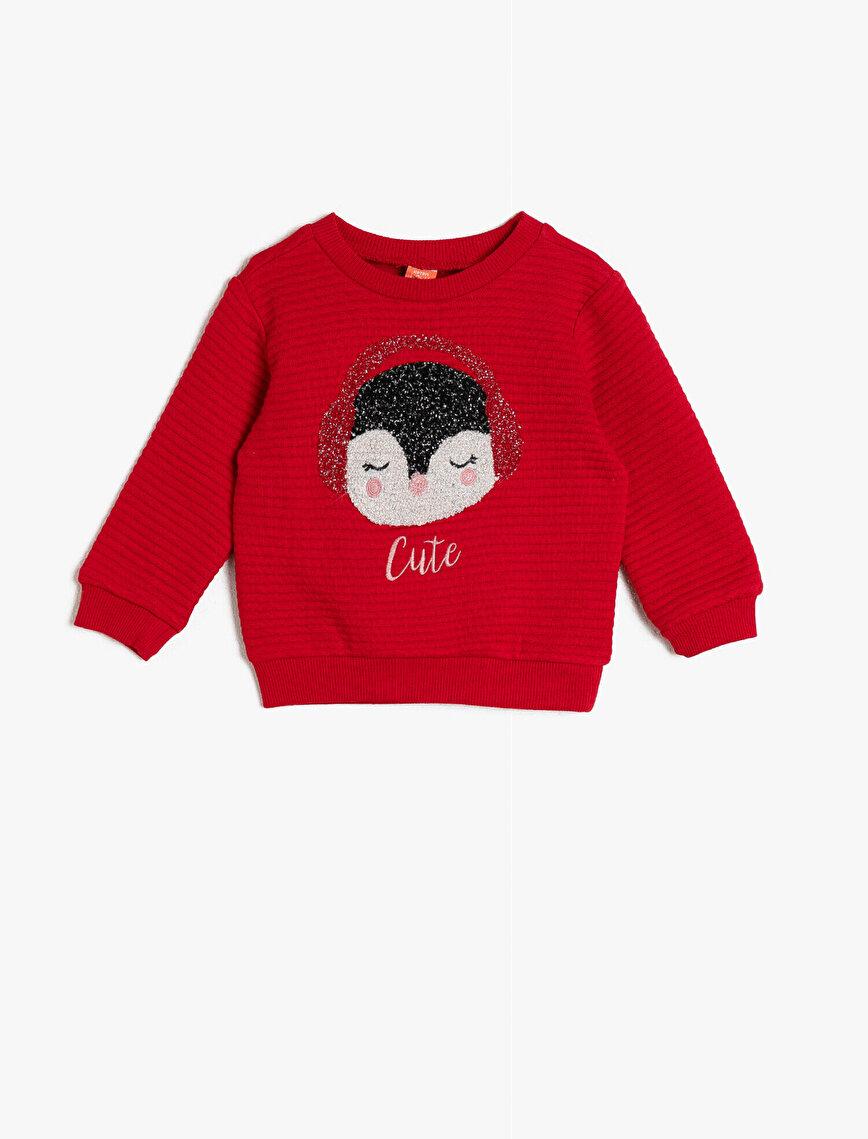 İşlemeli Sweatshirt