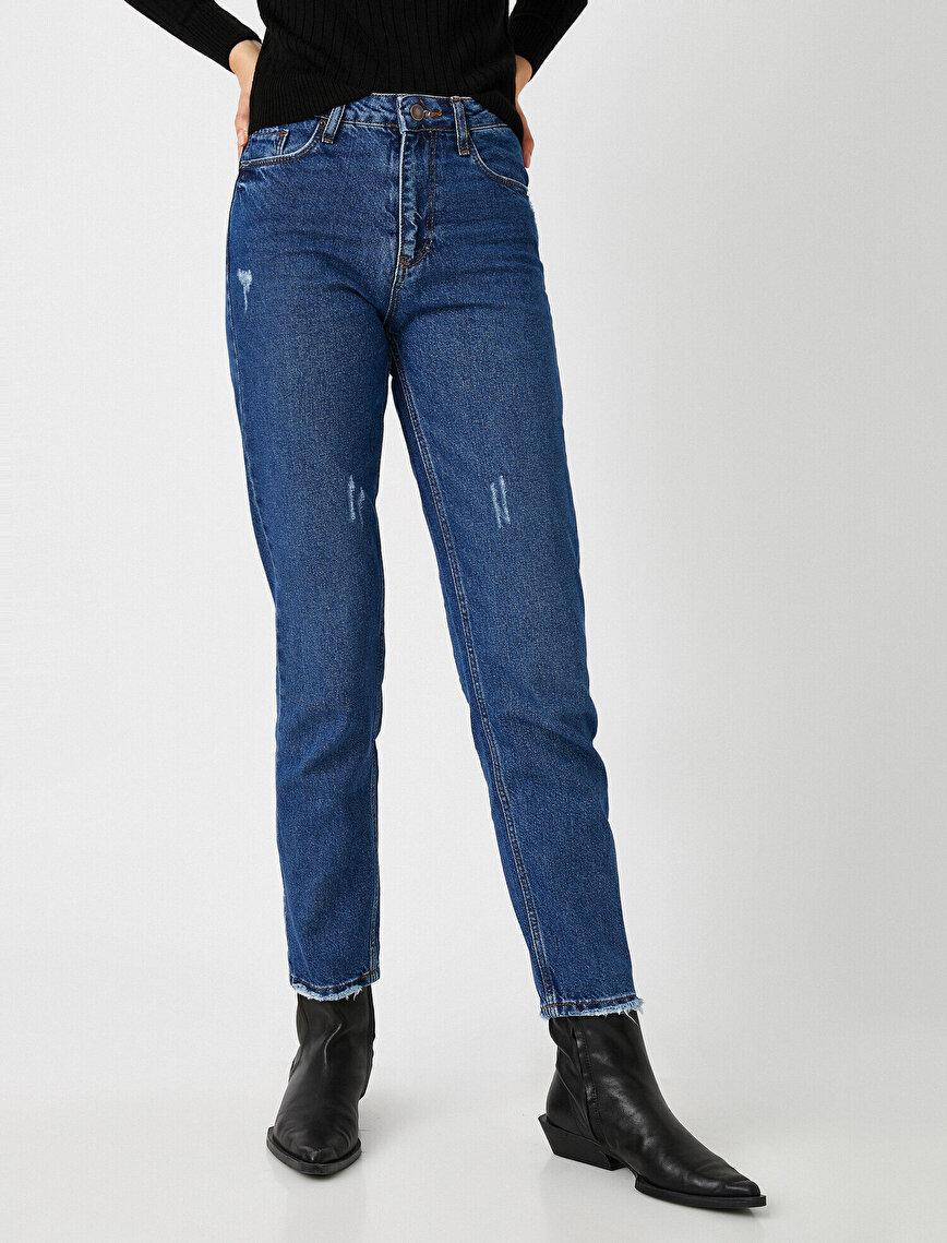 Yüksek Bel Comfort Strech Mom Jeans