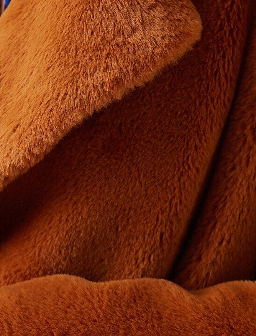 Fur Oversize Crop Coat
