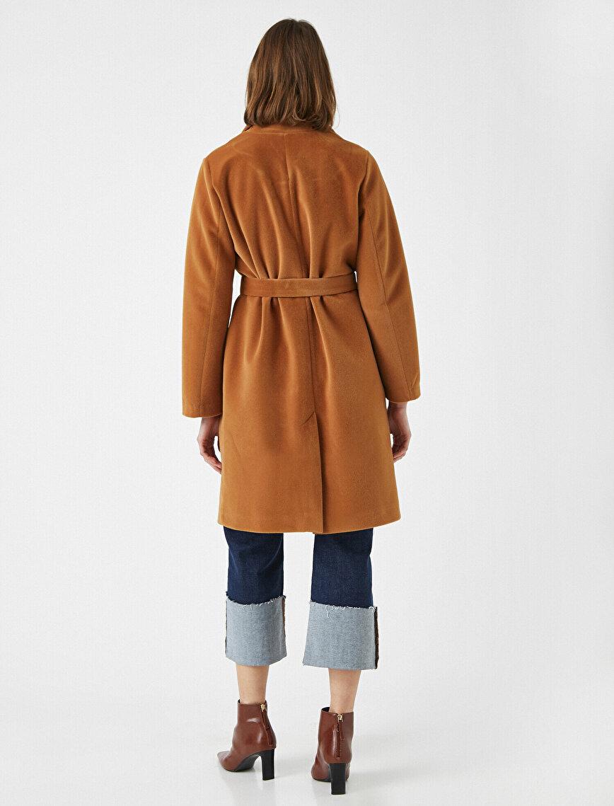 Belted Pocket Detailed Coat