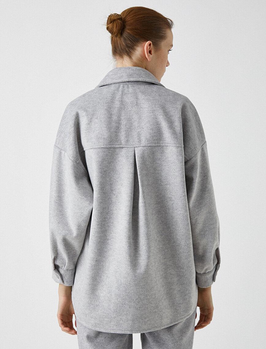 Gömlek Ceket Cepli Düğme Detaylı