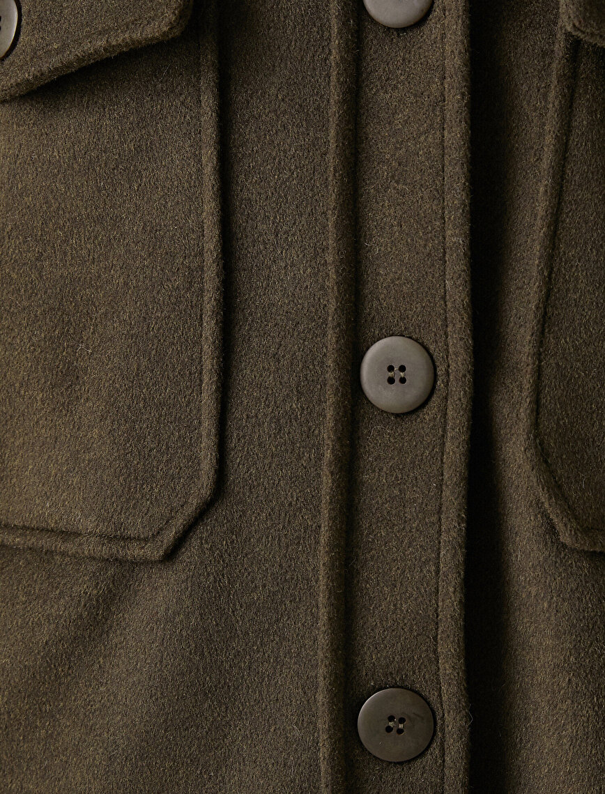 Pocket Button Detailed Shacket