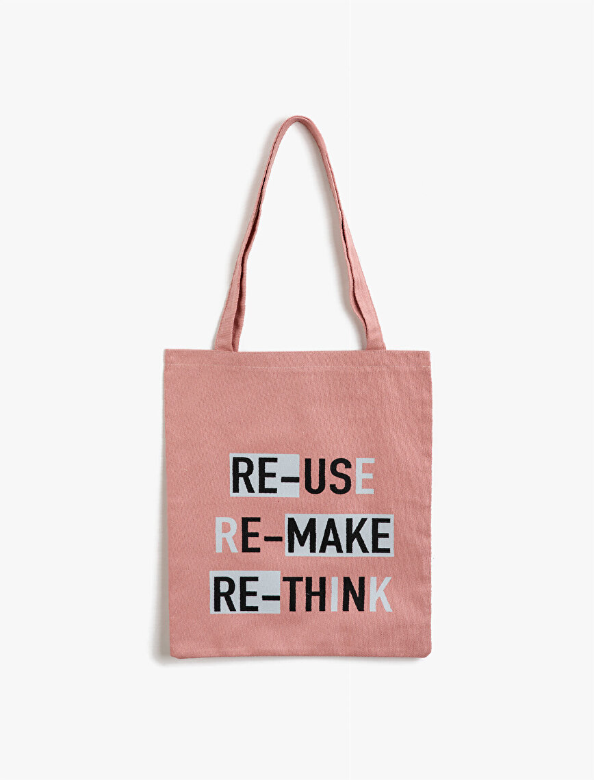 Respect Life   Yaşama Saygı - Letter Printed Cloth Bag
