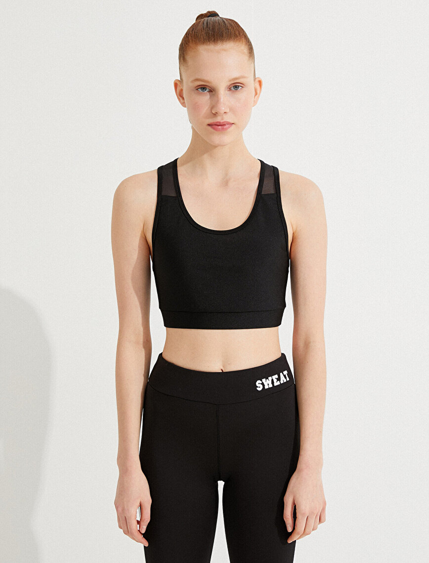 Tulle Detailed Sports Bra