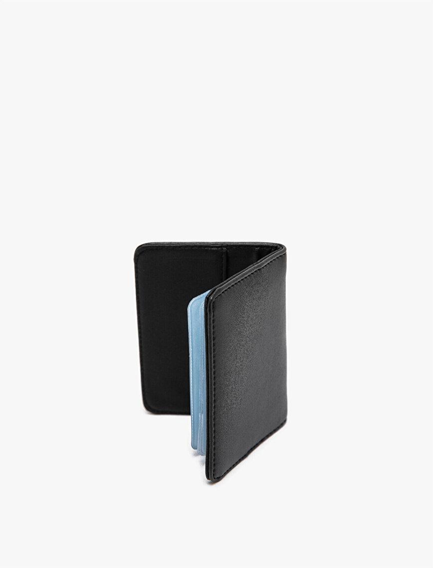 Leather Look Metallic Wallet
