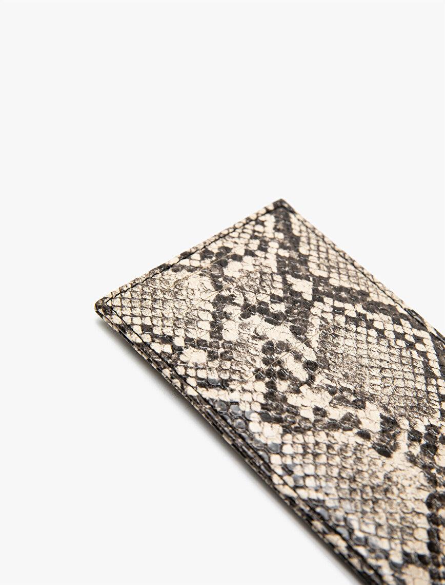 Snake Patterned Wallet