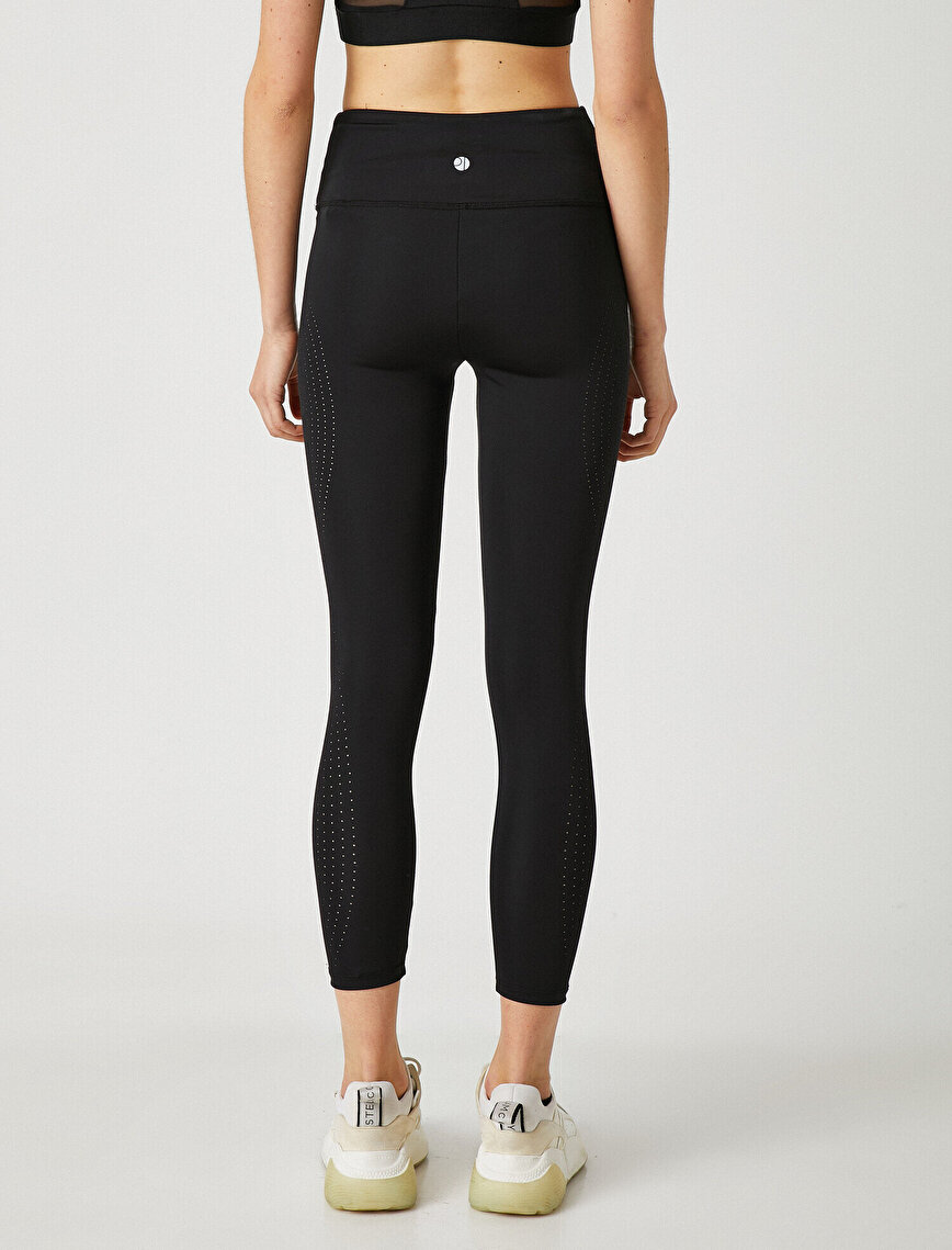 High Waist Leg Detailed Legging