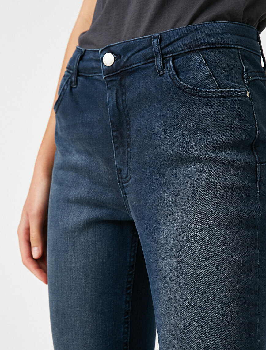 Push Up Jean - Normal Bel Toparlayıcı Dar Kesim Dar Paça Pantolon