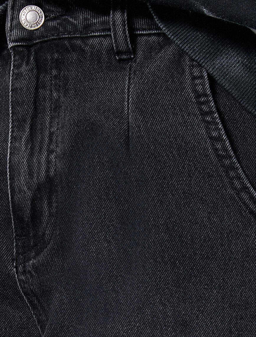 Slouchy Jean - Yüksek Bel Baldırı Bol Paçada Darlaşan Salaş Kesim Pantolon