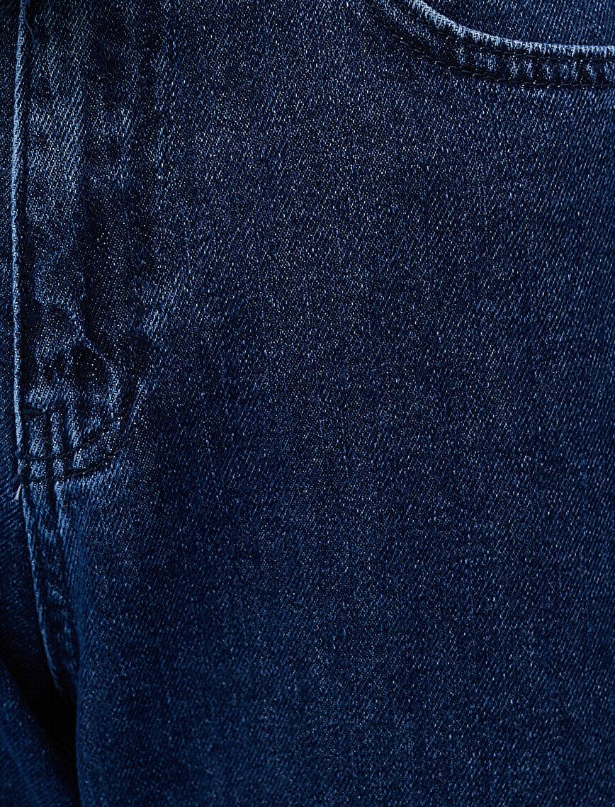 Jogger Jean - Yüksek Bel Rahat Kesim Paçası Lastikli Pantolon