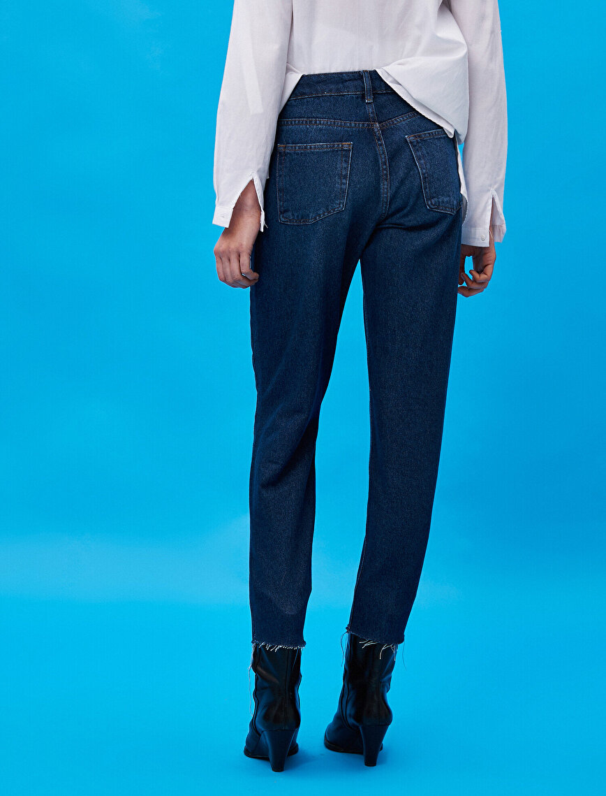 Respect Life | Yaşama Saygı - 100% Cotton High Waist Mom Jeans