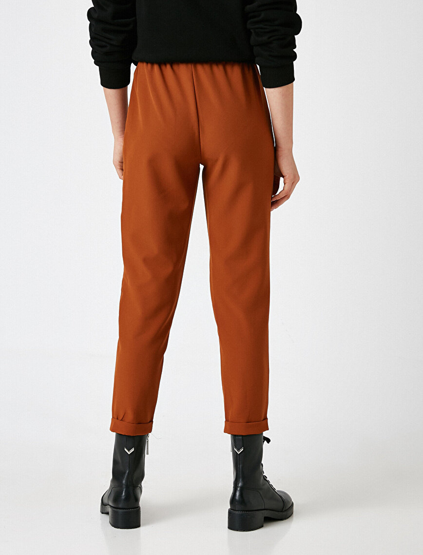 High Waist Lace Up Trousers