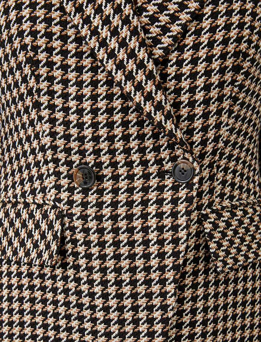 Button Houndstooth Jacket