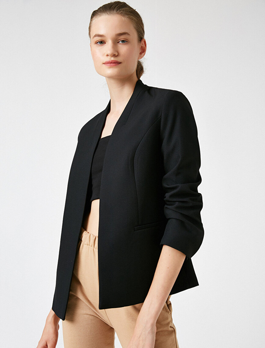 V Neck Suit Jacket