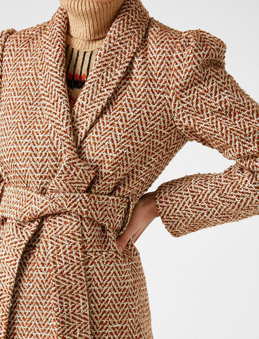 Arzu Sabancı for Koton Kemer Detaylı Ceket