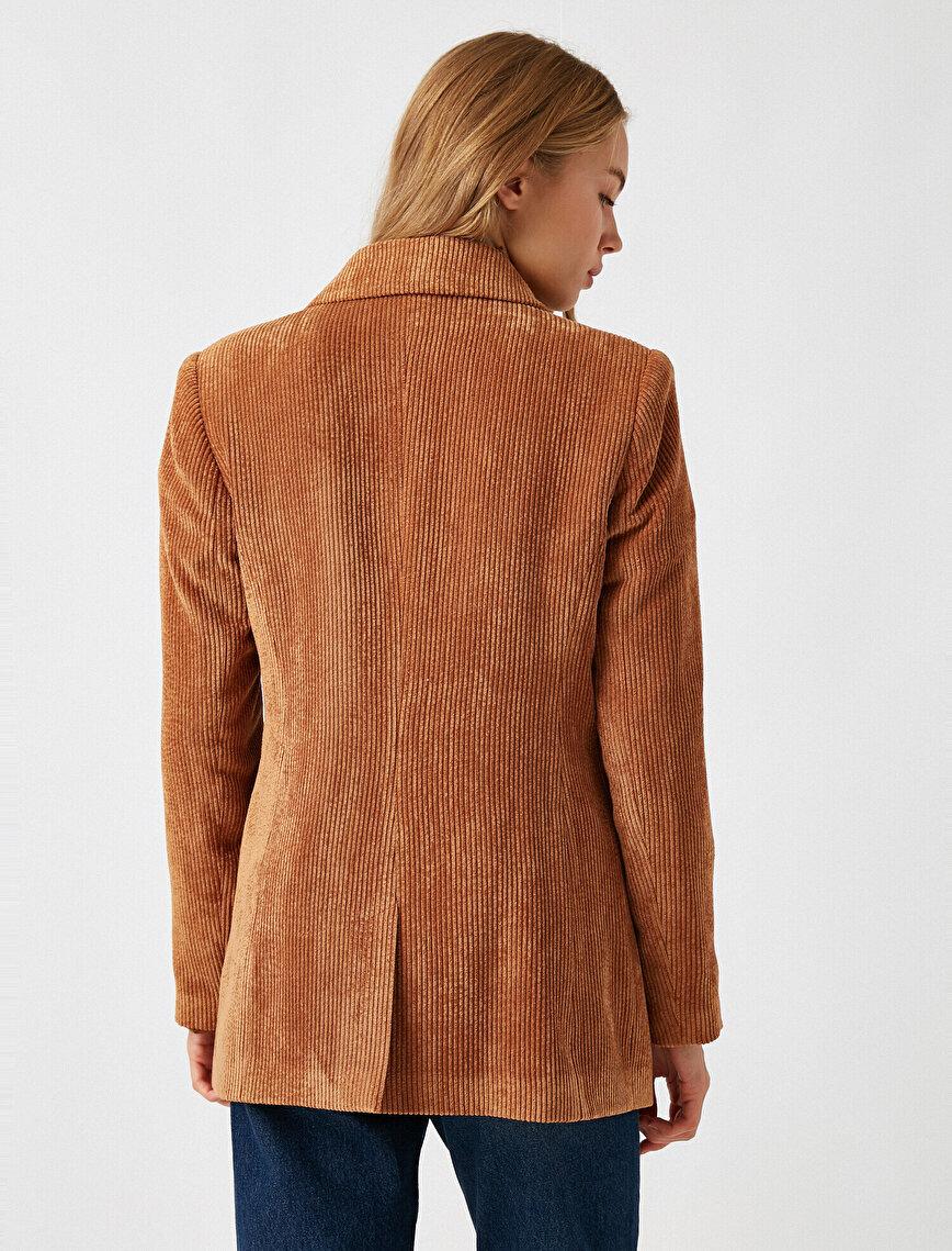 Corduroy Button Jacket