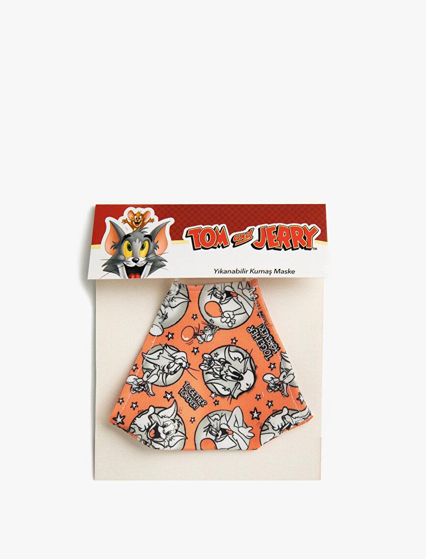 Tom & Jerry Lisanslı Baskılı Yıkanabilir Kumaş Maske