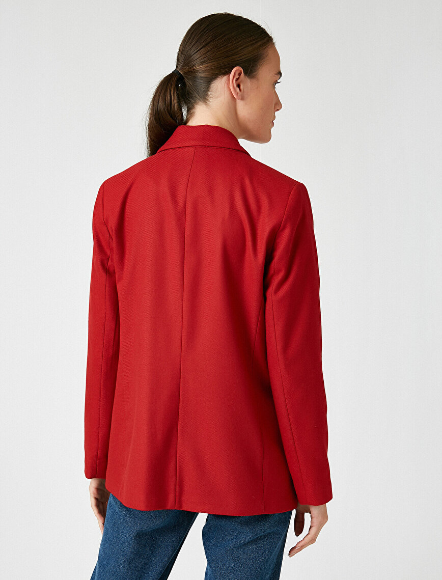 Button Detailed Blazer Jacket