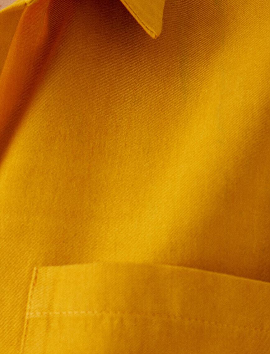 Respect Life | Yaşama Sa%100 TENCEL™ Oversize Long Sleeve Pocket Shirt