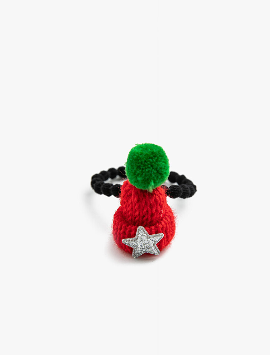 Knitted Beanie Figure Rubber Buckle