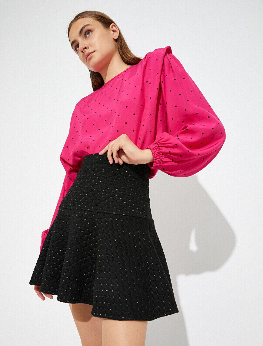 Skirtly Yours Styled by Melis Ağazat - Jakarlı Mini Etek