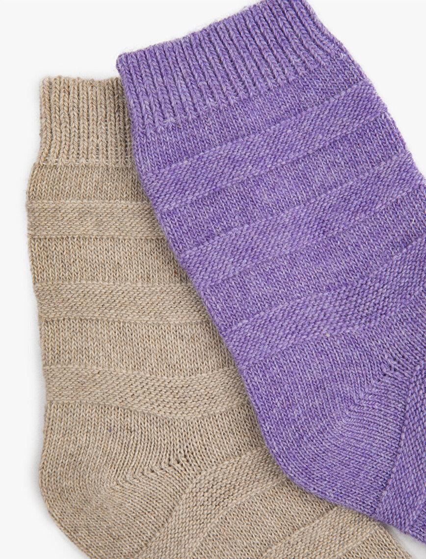 Woman 2 Pieces Basic Socks Set