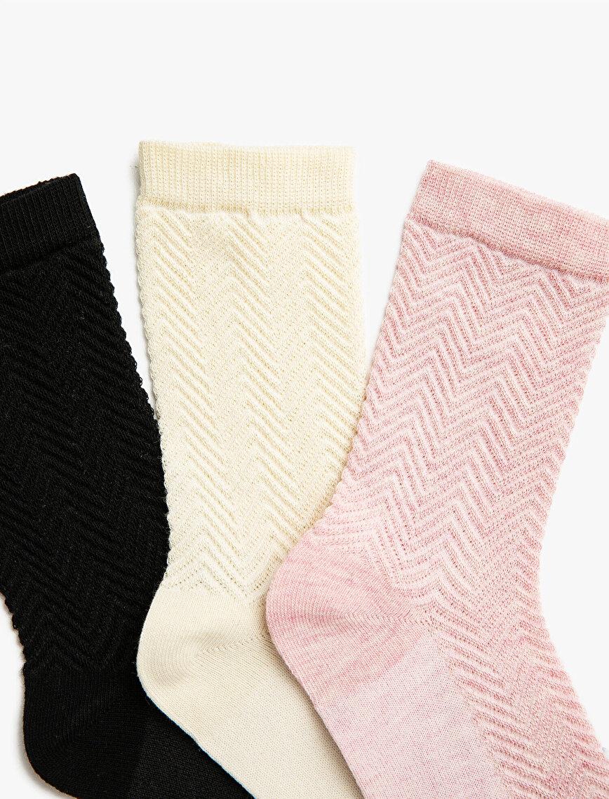 Woman 3 Pieces Cotton Socks Set