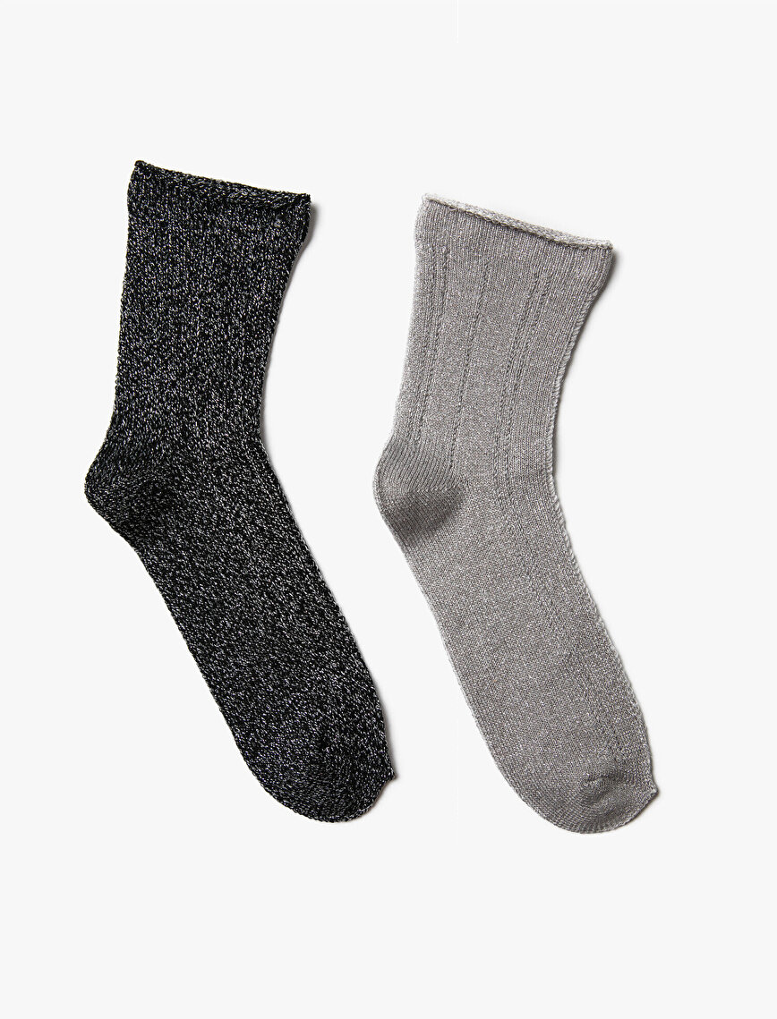 Kadın 2'li Basic Çorap Seti