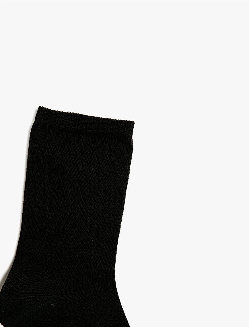 Woman 3 Pieces Cotton Basic Socks Set