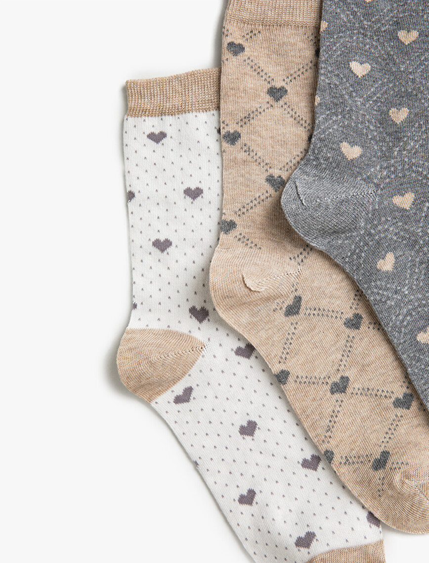 Woman 3 Pieces Patterned Socks Set