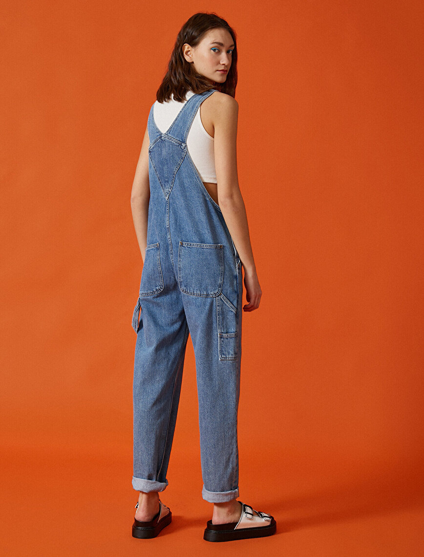 100% Cotton Jean Jumpsuit