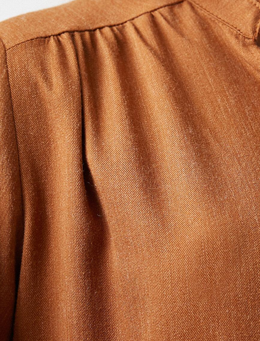 Uzun Kollu Kısa Elbise