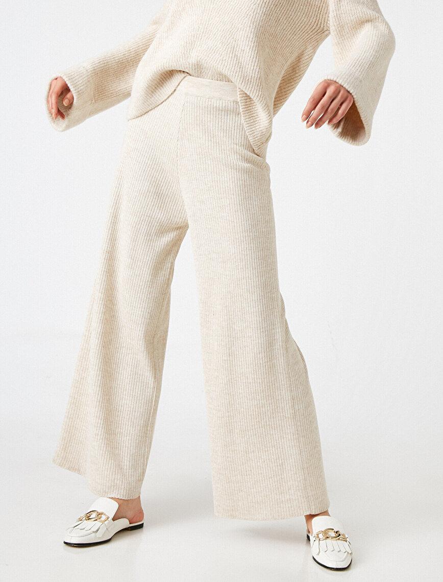 Arzu Sabancı for Koton Wide Leg Trousers