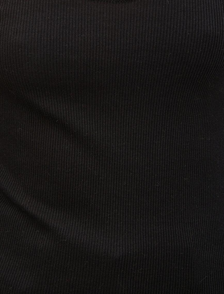 Long Sleeve Neck Detailed T-Shirt