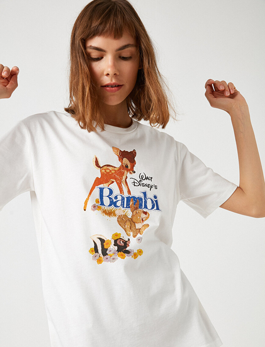 Respect Life | Yaşama Saygı -  100% Cotton Disney Licensed Bambi Printed T-Shirt