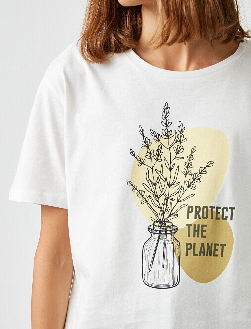 Respect Life | Yaşama Saygı - 100% Cotton Crew Neck Printed T-Shirt