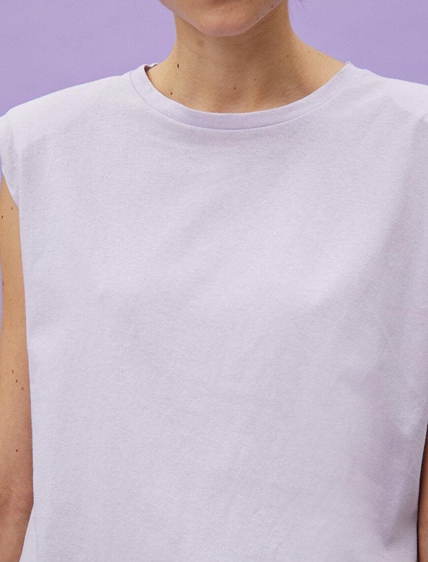 %100 Pamuklu Vatkalı Kısa Kollu Tişört