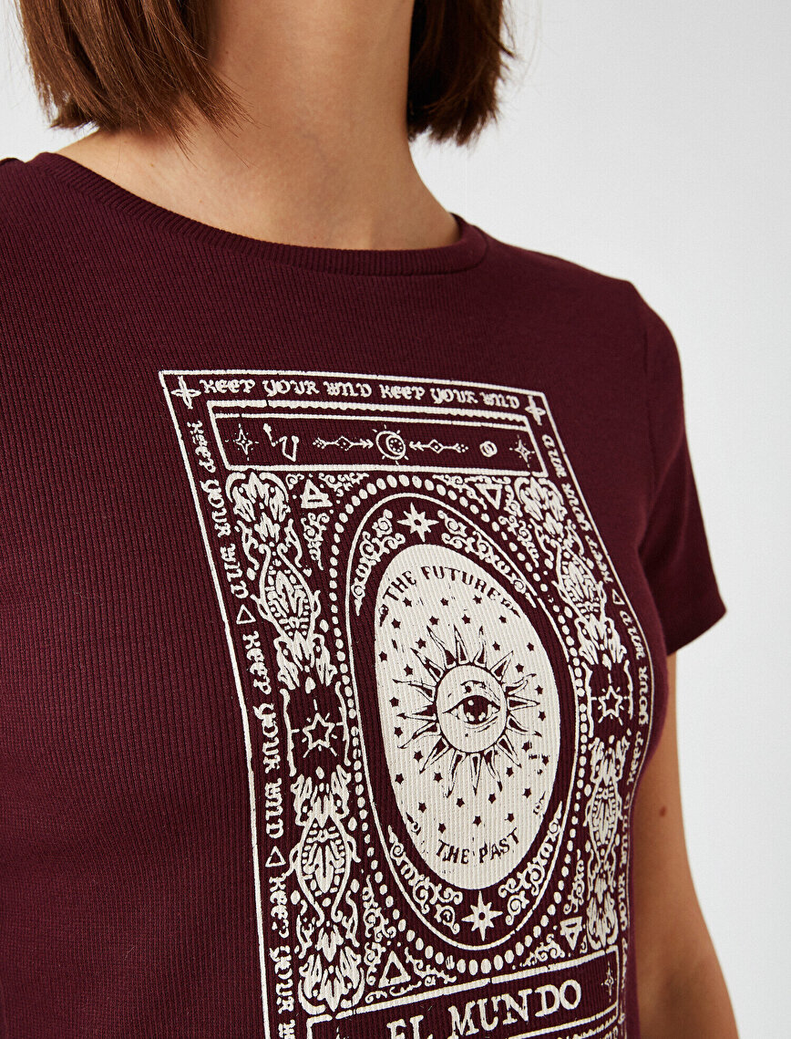Cotton Crew Neck Printed T-Shirt