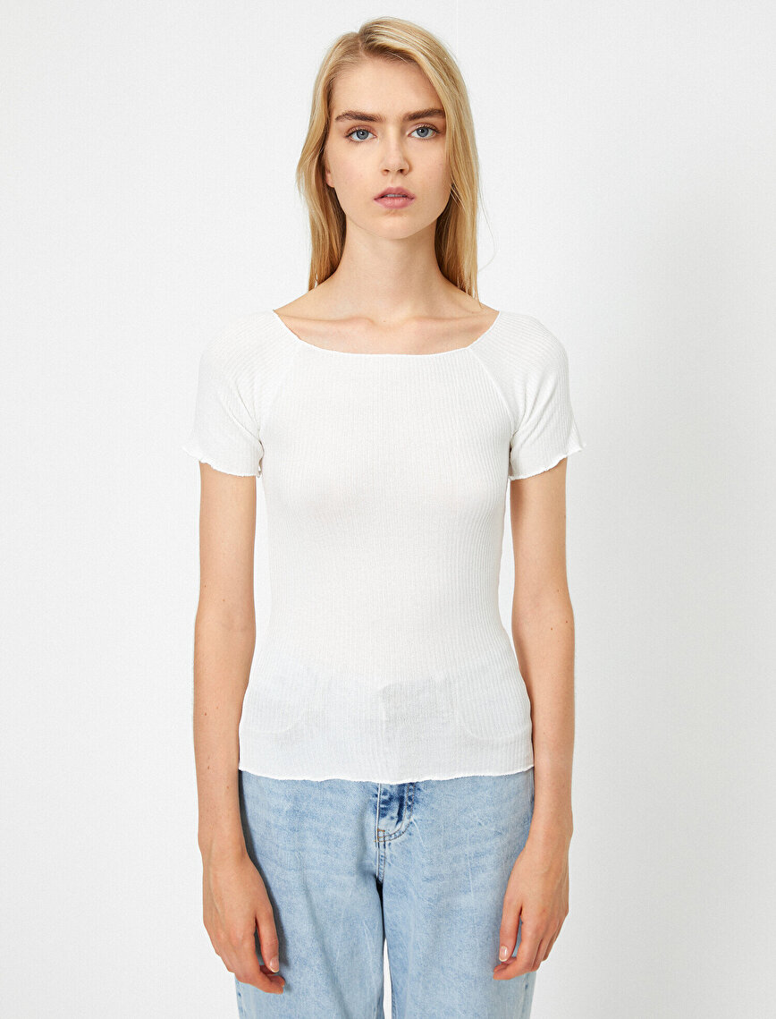 Round Neck Short Sleeve Basic T-Shirt