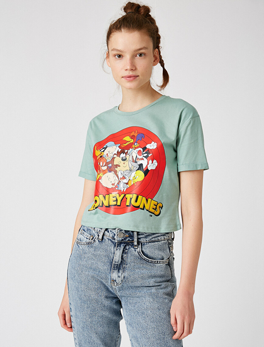 %100 Pamuk Looney Tunes Lisanslı Tişört