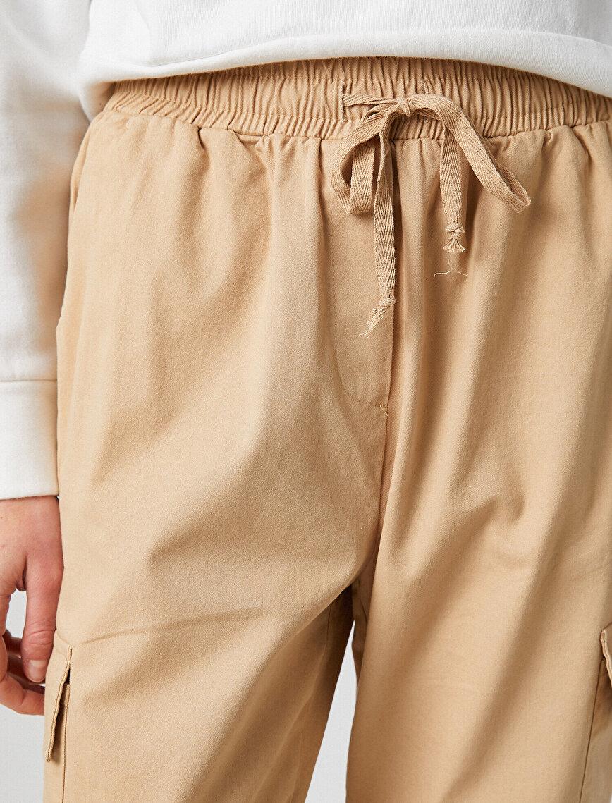 %100 Pamuk Kargo Jogger Pantolon