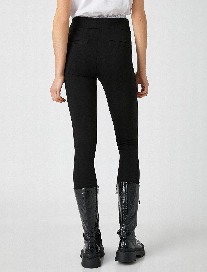 Cotton Zipper Detailed Leggings