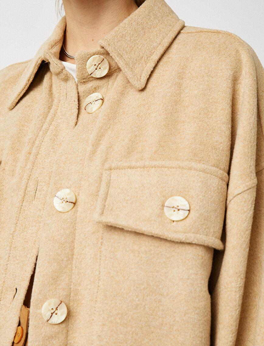 Kaşe Düğme Detaylı Ceket