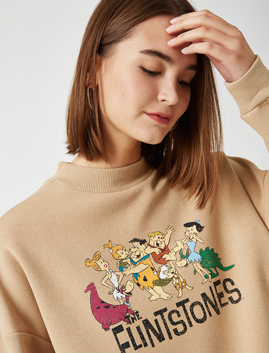 Warner Bros Lisanslı Baskılı Dik Yaka Sweatshirt