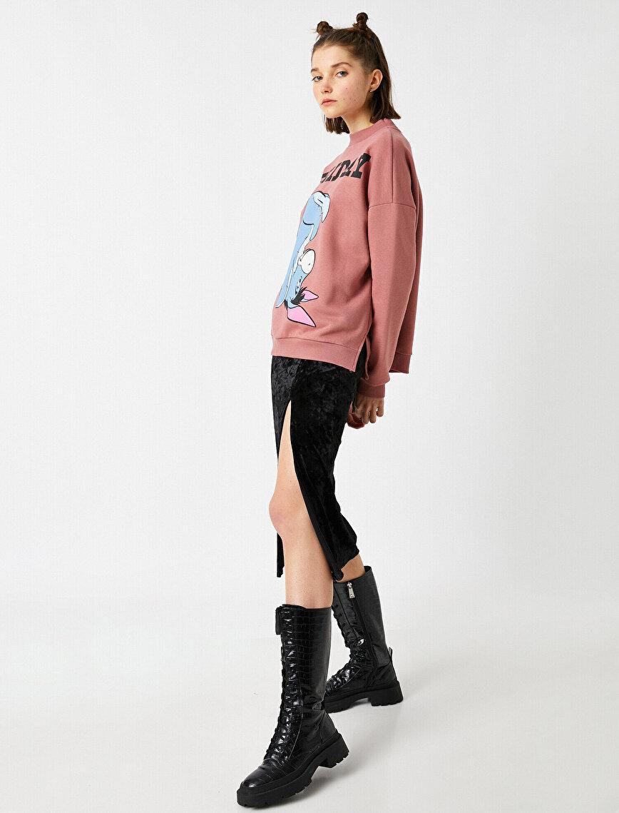 Disney Licensed Printed Cotton Sweatshirt