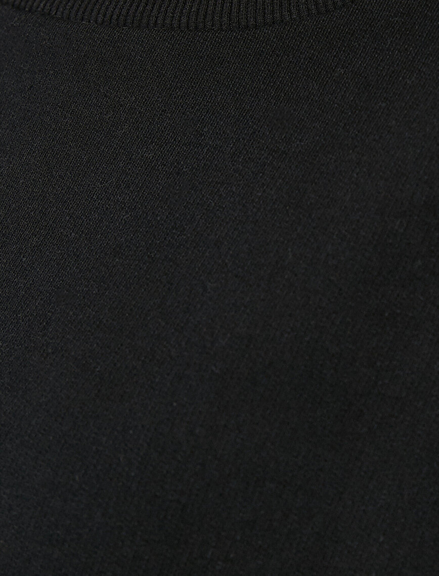 Vatkalı Bisiklet Yaka Sweatshirt