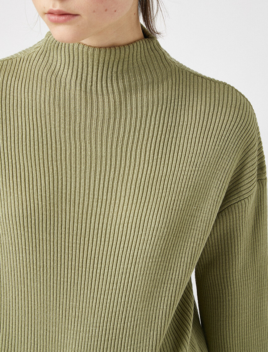 Stand Neck Long Sleeve Sweater