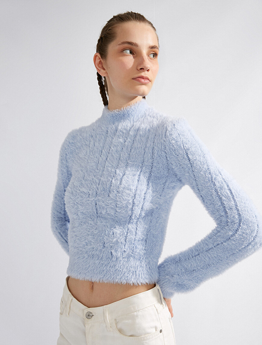 Long Sleeve Stand Neck Sweater